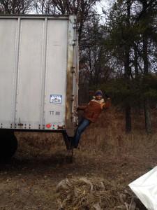 free semi truck trailer score!
