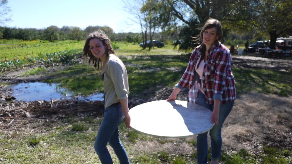 Dawn & Erykah move a marble slab