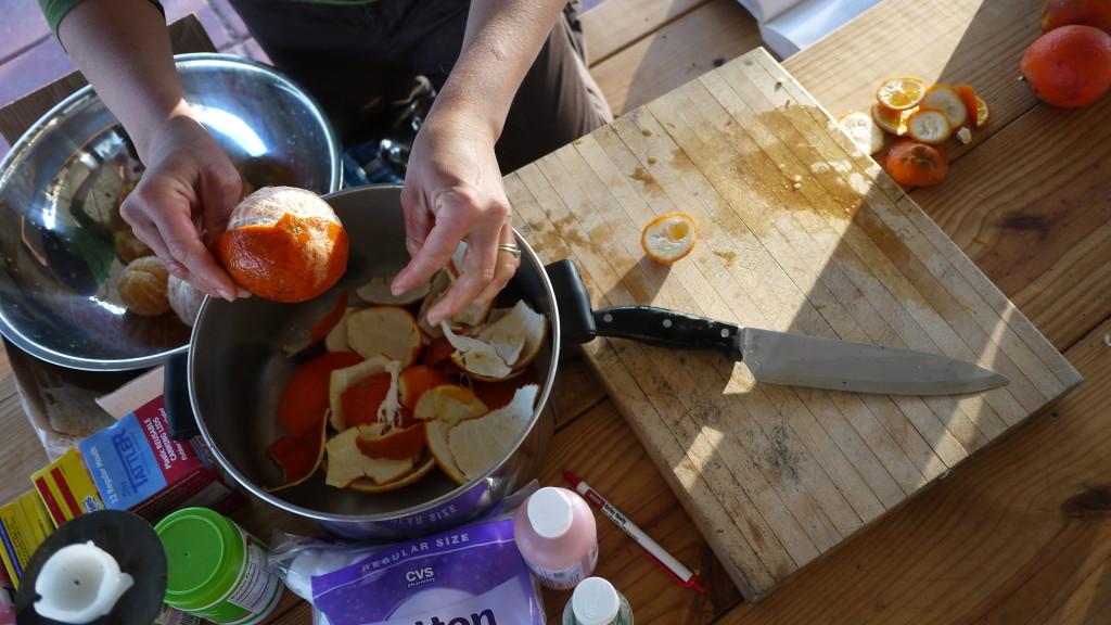 test batch of fresh orange marmalade