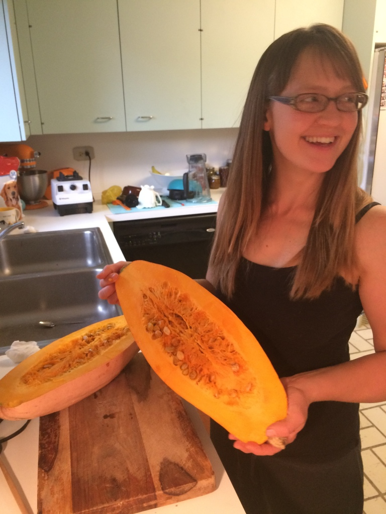 we brought the giant banana squash along for the autumn feasting - it would become smoothies, pumpkin pie, and pancakes ...