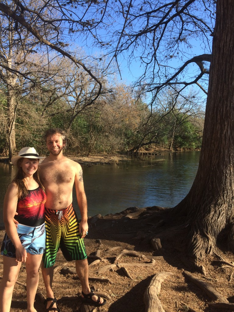 RIVER SWIMMING IN JANUARY FOR THE WIN! (the San Marcos river is 73 degrees all year long)