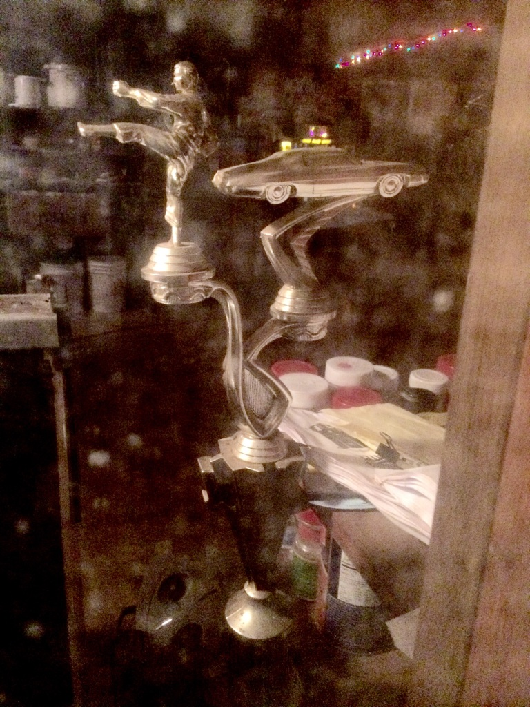 the mysterious trophy in the window at Dean's bar in Kingsbury. Karate racing?