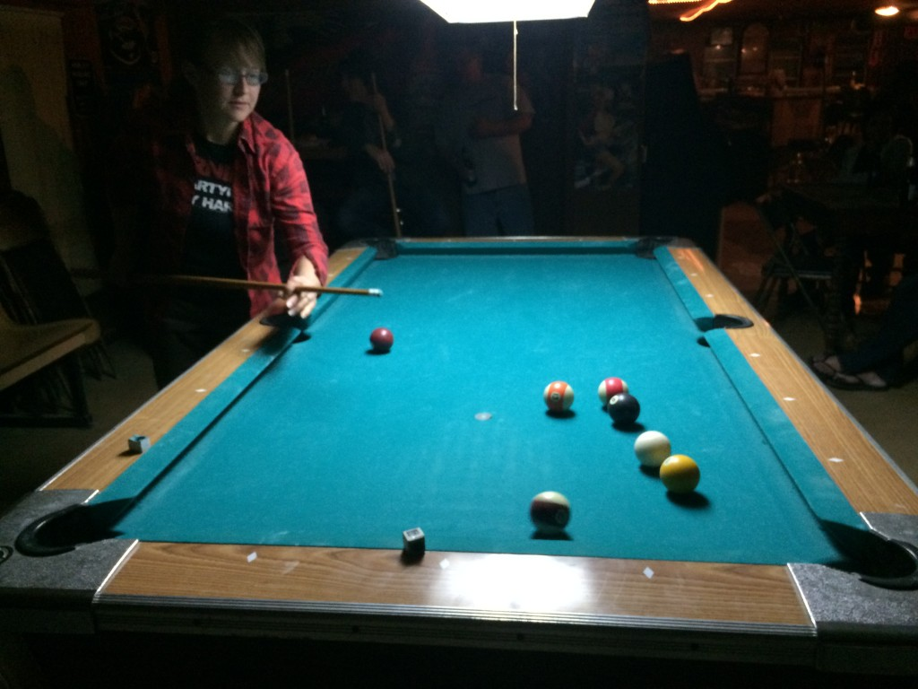 pool at Dean's in Kingsbury