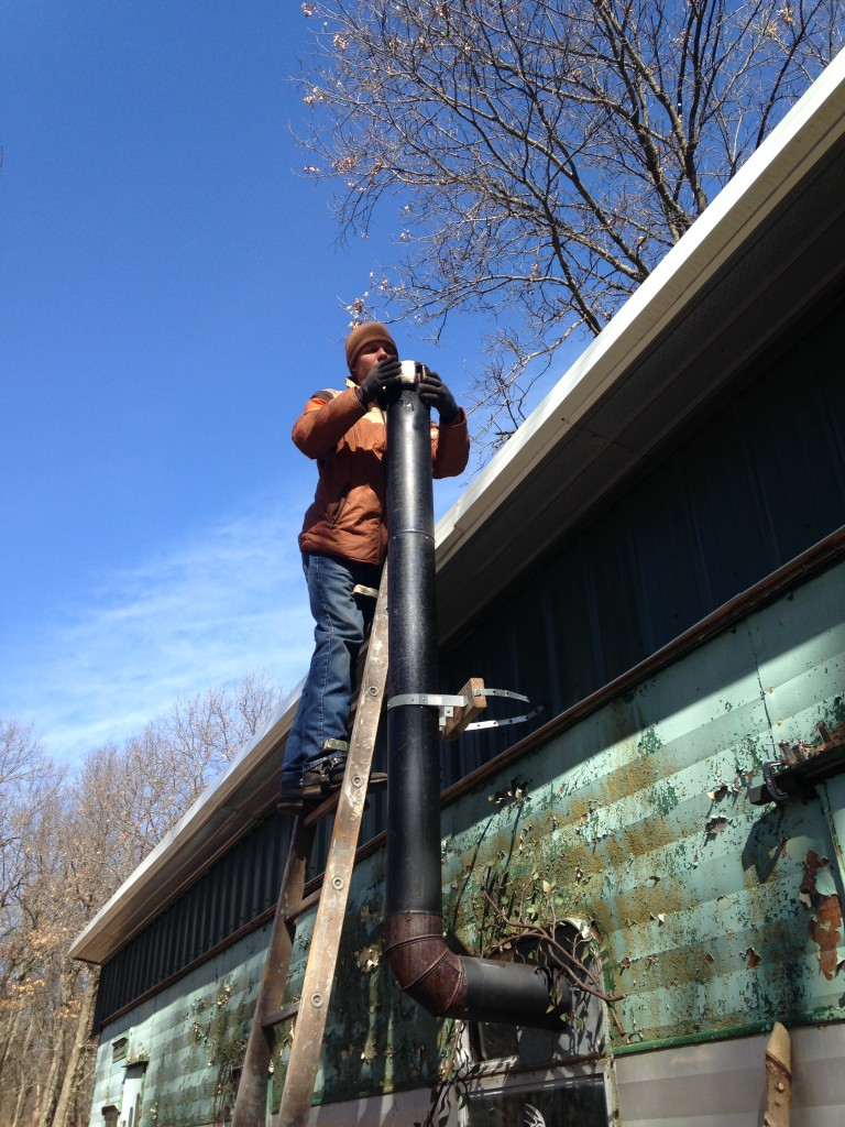 cleaning out the chimney cap