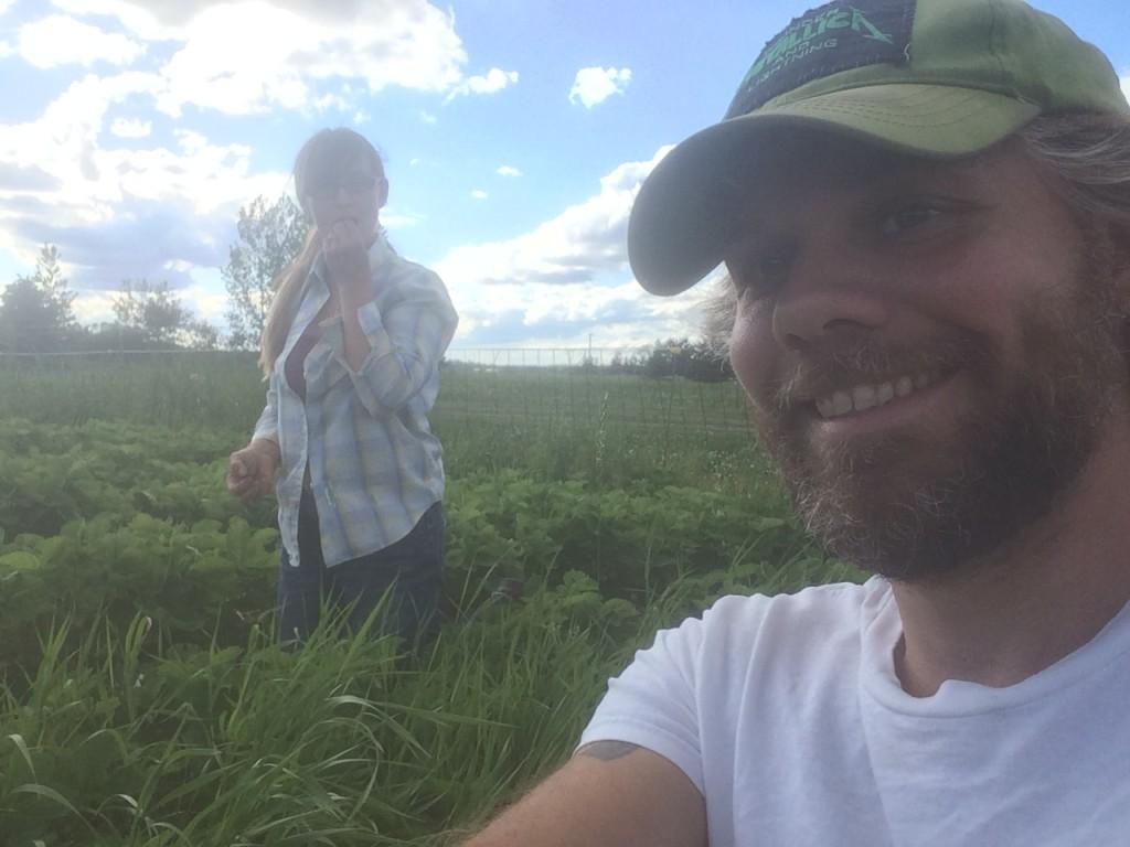 strawberry pickin' selfie