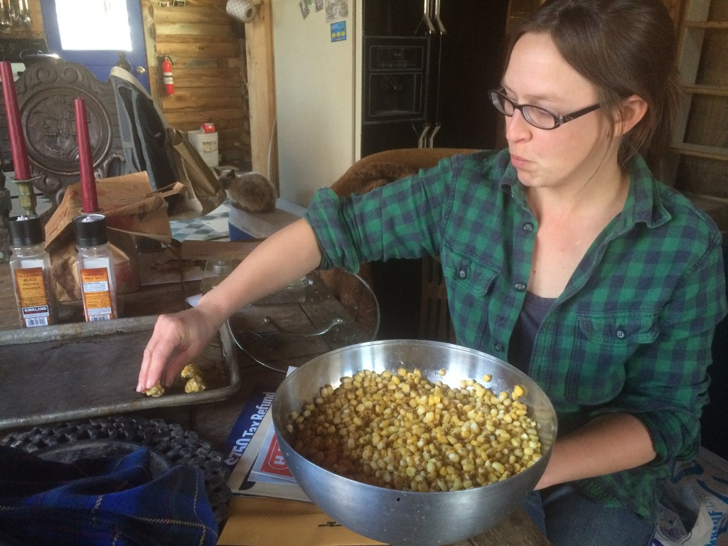 chewing up, spitting, lumping , and drying out some dried, rehyrdrated, limed Que Sehra corn ...