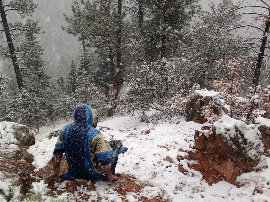 took an afternoon to see Santa Fe - wound up climbing a mountain in a snow storm.