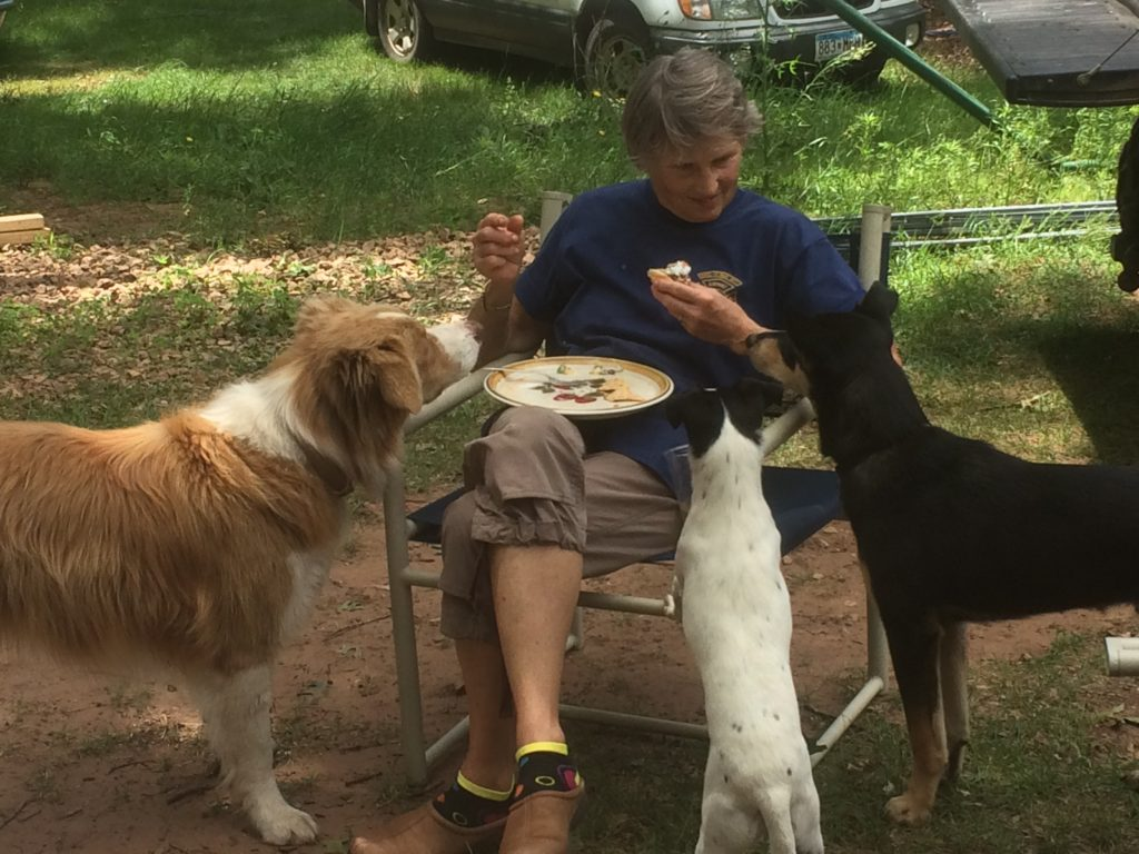 Neighbor Marcie, Chicken Whisperer is also a Whisperer of Dogs