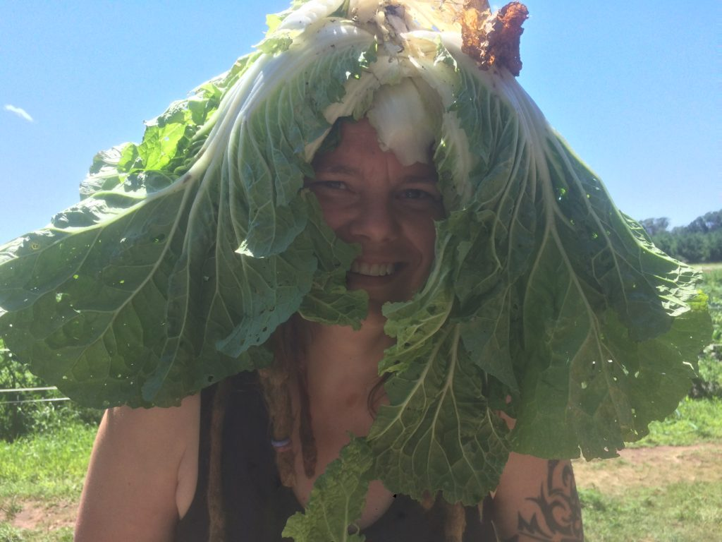 Angela's Napa Cabbage Headdress