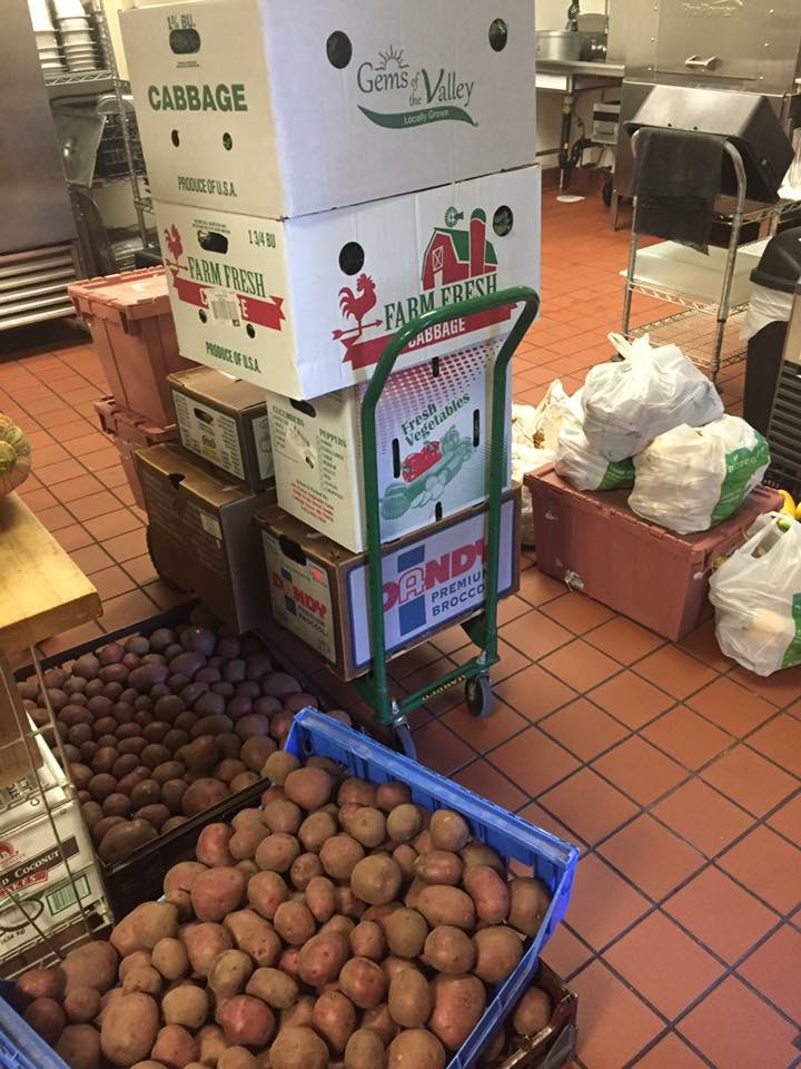 pile of produce for our friends at We Cater to You