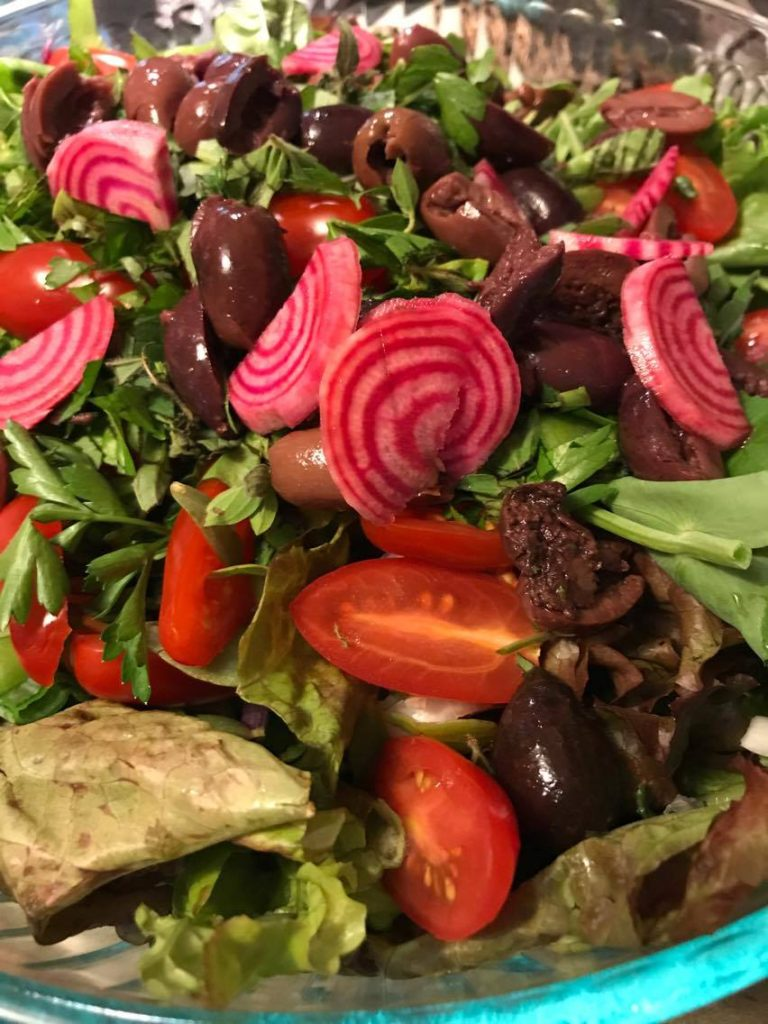 Shareholder Melissa's beet/salad mix dish made this evening