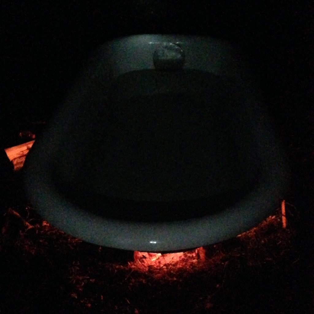 wood-fired bathtub season is upon us