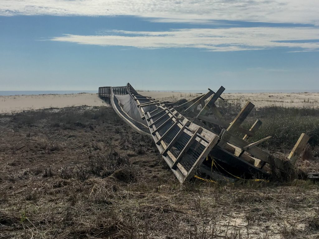 Hurricane Michael damage on Saint George Island