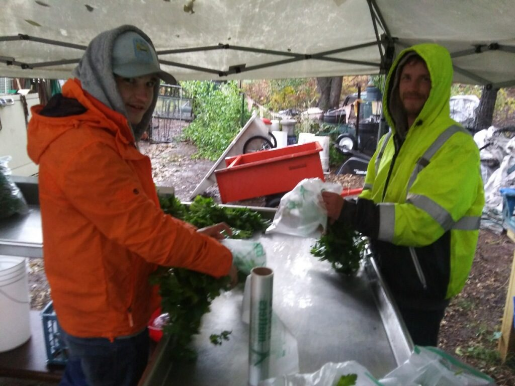 Ben & Marty: our bad ass Autumn Helpers, packing your boxes in the rain today
